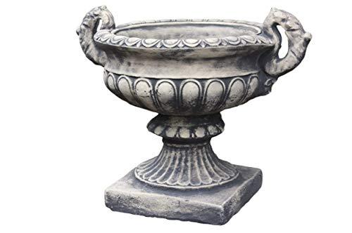 Steinfiguren Horn Amphore aus Steinguss 35cm H