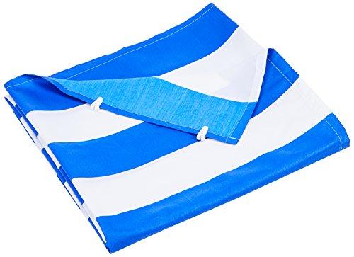 Floracord komplett mit der Seilspanntechnik Universal Senkrecht-Sonnensegel, Blau-weiß, 230x140 cm