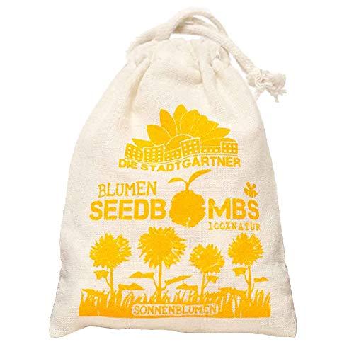 """Die Stadtgärtner – Seedbombs """"Sonnenblumen"""" I 8 handgemachte Samenbomben mit 5 verschiedenen..."""