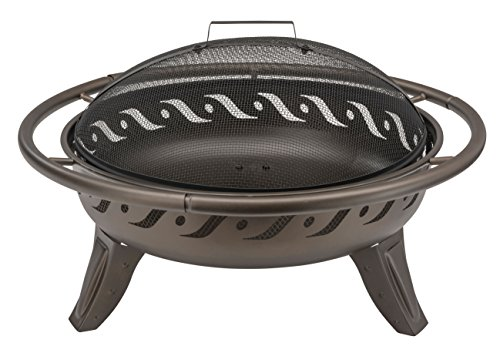 Landmann Grills Finish FireWave Fire Pit – braun metallic