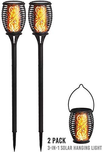 DECO EXPRESS Solarlampen für Außen, Led Beleuchtung, IP65 Wasserbeständigkeit, Garten Fackeln,...