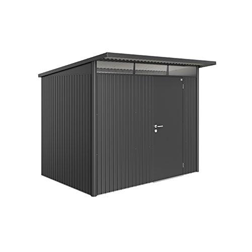 Biohort Gerätehaus Avantgarde mit Einzeltür dunkelgrau-metallic L ohne Montage 2