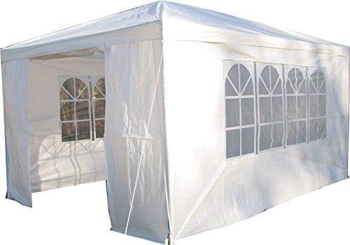 Airwave Pavillon 3 x 4 m, weiß, Inklusive 1 x einzigartig gestalteter Windstangen für besondere...