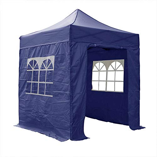 Airwave Essential Pop-Up-Pavillon mit Seiten, 2 x 2 m, Blau