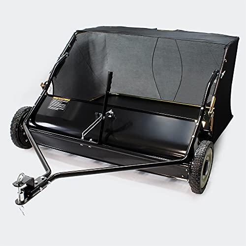 Rasenkehrmaschine für Aufsitzmäher mit 95cm Arbeitsbreite und 254x44,5mm Gummireifen