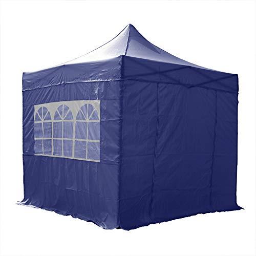 AIRWAVE Essential Pop-Up-Pavillon, mit Seitenwänden, 2,5 x 2,5 m, Blau