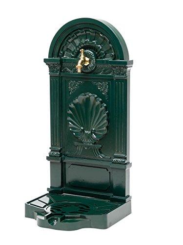 aubaho Standbrunnen 83cm Waschbecken Alu Brunnen Waschplatz Wandbrunnen antik Stil grün