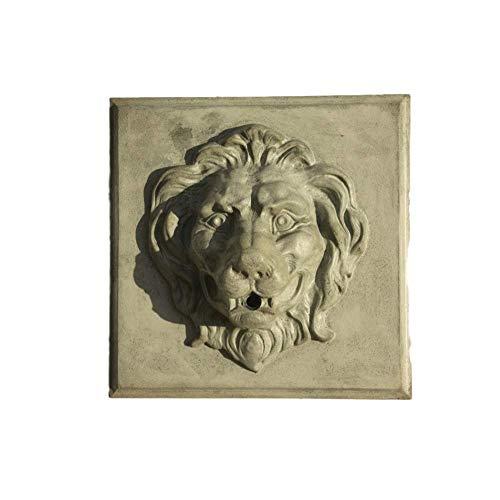 Steinfiguren Horn Löwe für die Wand als Wasserspeier