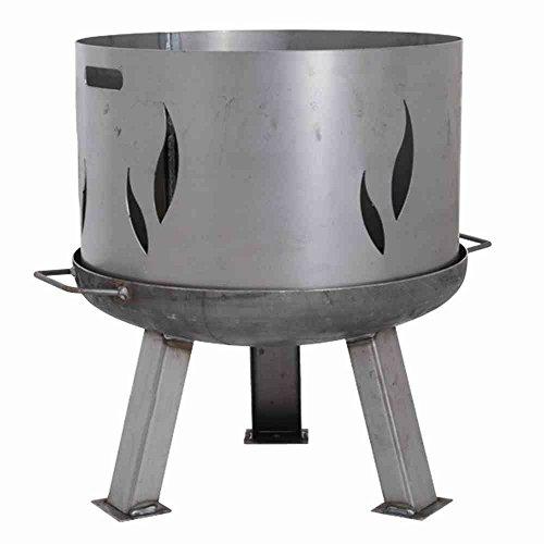 Feuerschalenaufsatz, Stahl silber/anthrazit, passend zu der Feuerschale XXL Ø85cm, mit...