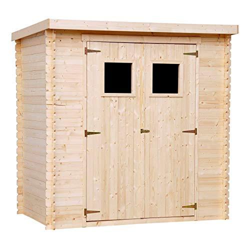 TIMBELA M311 Gartenhaus aus Holz für den Außenbereich - Kiefern- / Fichtenschuppen - Flachdach -...