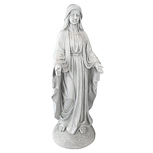 Design Toscano Madonna von Notre Dame Gartenfigur, Maße: 34,5 x 33 x 91,5 cm