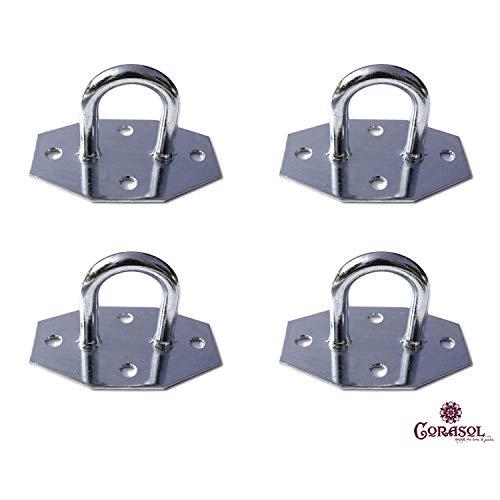Corasol Sonnensegel Zubehör, Material:verzinkter Stahl, Zubehör:Wandöse (4 Stück)