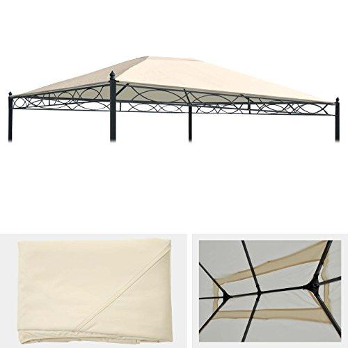 Mendler Ersatzbezug für Dach Pergola Pavillon Cadiz 4x3m - Creme