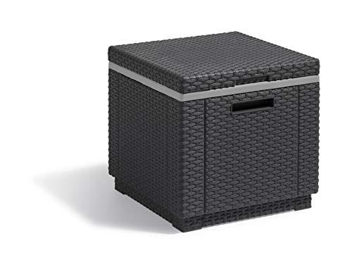 'Allibert by Keter' Beistelltisch Ice Cube, graphit, Kühlbox, Deckel abnehmbar, doppelwandig,...