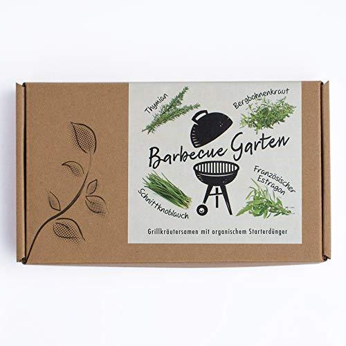 BARBECUE GARTEN - Grillkräutersamen Geschenkbox - Geschenkidee für Grillfans