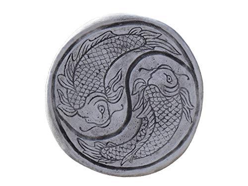 gartendekoparadies.de Wunderschöne chinesische japanische Trittplatte Bodenplatte Motiv: Koi aus...