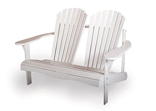 MaximaVida adirondack Gartenbank Toronto 130 cm, weiß, aus exklusivem Mahagoni Hartholz