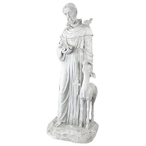 Design Toscano Der Heilige Franz von Assisi, Gartenstatue, 94 cm