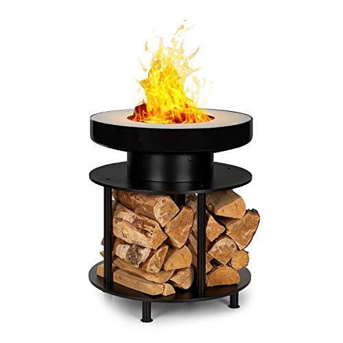 blumfeldt Wood Stock 2-in-1 Feuerschale & BBQ-Grill,Ring of Fire BBQ Ledge: 12,5 cm breiter...