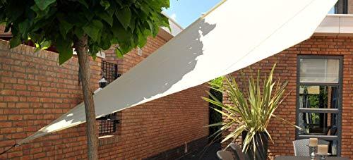 Wasserabw. Sonnensegel Quadrat creme 4 x 4 x 4 x 4 m