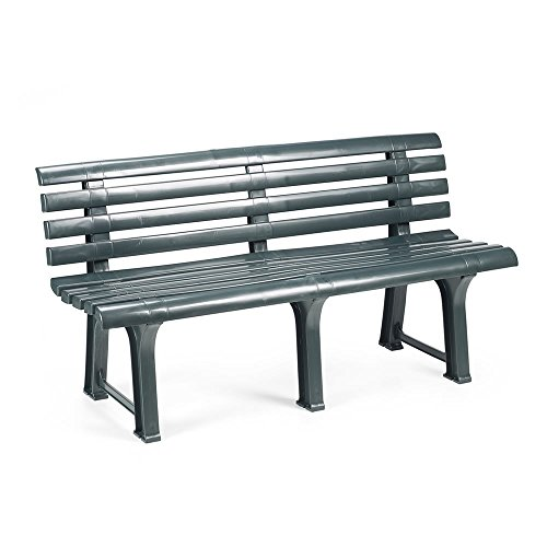 Mojawo Exclusive Gartenbank | 3 Sitzer | Kunststoff | strapazierfähig | 145x49x74 cm | Parkbank...