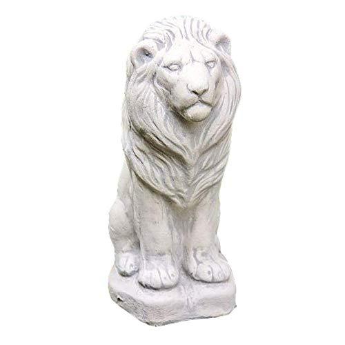 Steinfiguren Horn Kleiner sitzender Löwe