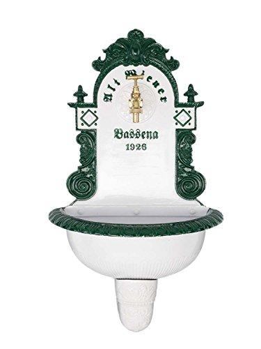 aubaho Brunnen Wandbrunnen 72cm Aluminium Waschbecken im Nostalgie antik Stil Fountain