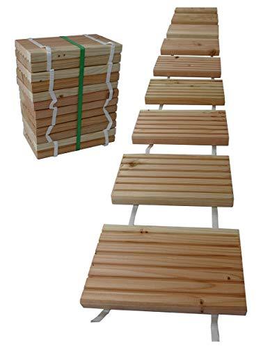 Gartenpirat Rollweg Holz 25x250 cm Gartentritte Holz-Tritte, Holz-Fliesen für den Weg im Garten