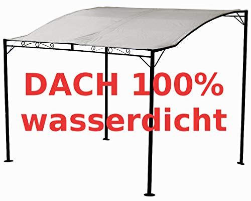 ASS Wand Anbau Pavillon Terassenüberdachung 3x2,5 Meter Dach 100% wasserdicht UV30+