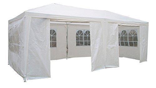 Airwave Pavillon,  3 x 6 m, weiß, Inklusive 2 x einzigartig gestalteter Windstangen für besondere...