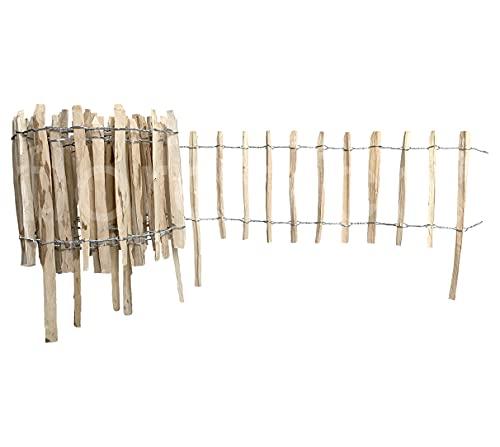 Floranica® Haselnussholz-Rollzaun   Länge = Menge in lfm   Höhe: 50cm   Lattenabstand: 4-6cm  ...