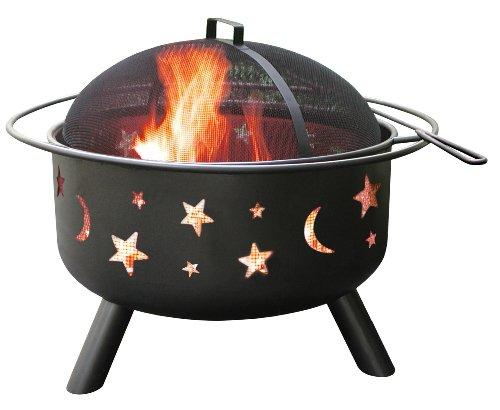 Landmann 28345Big Sky Sternen und Monden Feuerstelle, schwarz