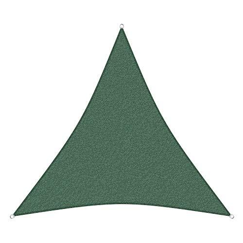sunprotect 83212 Professional Sonnensegel, 5 x 5 x 5 m, Dreieck, Wind- & wasserdurchlässig, grün