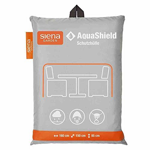 Siena Garden AquaShield Sitzgruppenschutzhülle, silber-grau, mit Active Air System, 160x150x85cm