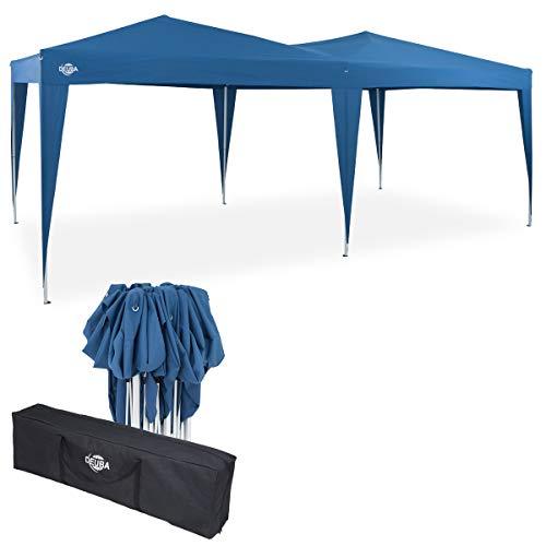 Deuba Pavillon Capri 3x6m Pop-Up Blau Wasserabweisend Inkl. Tasche UV-Schutz Faltpavillon Gartenzelt...