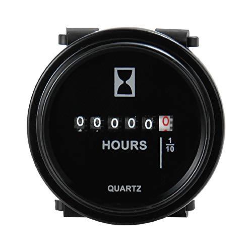 Runleader HM009 DC 6V bis 80V Runder Betriebsstundenzähler Snap in Quartz Betriebsstundenzähler...