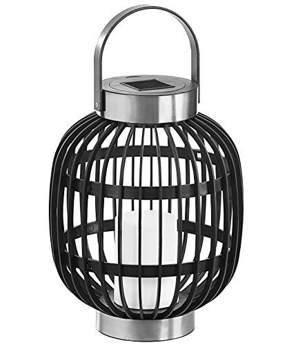 Dehner Solarlaterne Toledo, Ø 35 cm, Höhe 60 cm, Kunststoff, schwarz