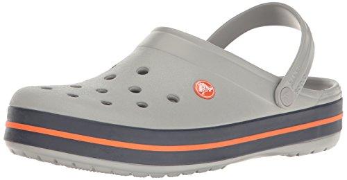 crocs Unisex-Erwachsene Crocband U' Clogs, Grau (Light Grey/Navy), 38/39 EU