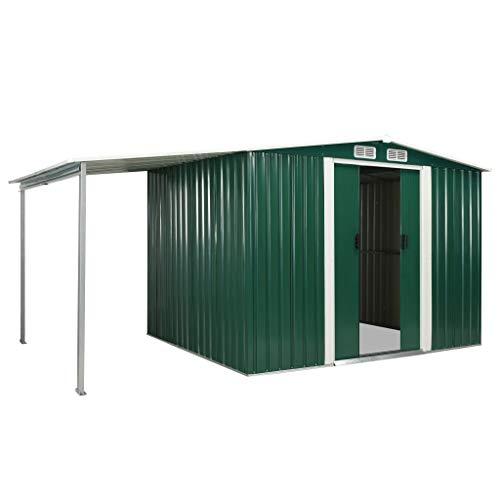 Festnight Gerätehaus mit Schiebetüren Geräteschuppen mit 4 Lüftungsklappen Garten Schuppen...