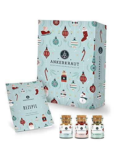 Ankerkraut Premium Gewürz-Adventskalender 2021   Weihnachtskalender mit 24 Gewürz-Überraschungen...