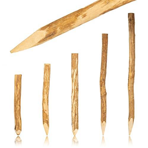 BooGardi Zaun-Pfosten Haselnuss 105 cm · Viele Größen · Zaun-Pfahl für Ihren...