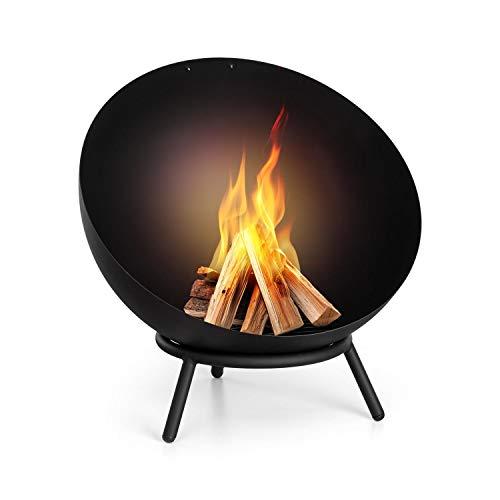 Blumfeldt Fireball - Feuerschale, Ø 60 cm, kippbare Feuerstelle, solide 2 mm Starke...