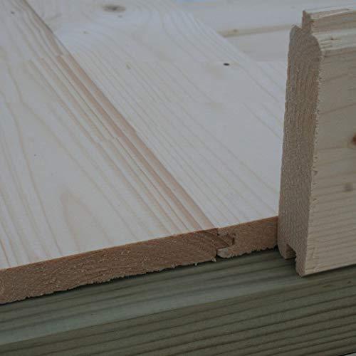 Alpholz 18 mm Holzfußboden für Gartenhäuser & Gerätehäuser | Universal Fußboden Naturbelassen...