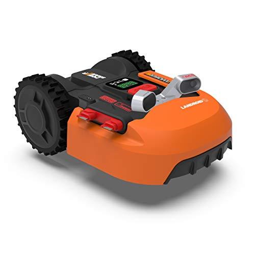 WORX Landroid WR900E Mähroboter – Akkurasenmäher für kleine Gärten mit bis zu 500m² –...