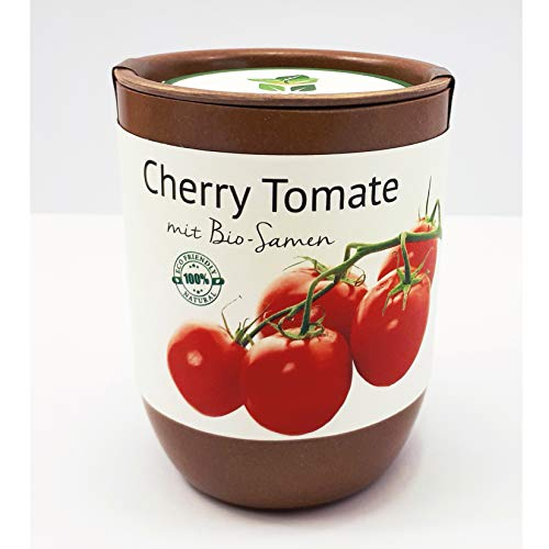 Feel Green Ecocan, Cherry Tomate, Bio Zertifiziert, Nachhaltige Geschenkidee (100% Eco Friendly),...