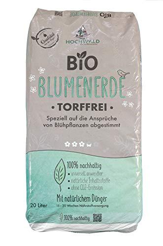 Hochwald Bio Blumenerde torffrei mit Dünger   Universalerde für Zimmerpflanzen, Balkonpflanzen und...