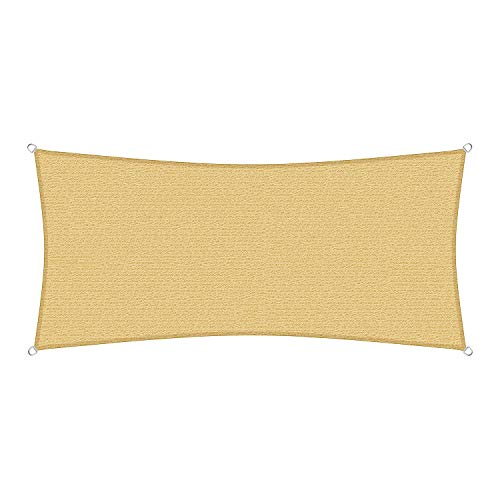 sunprotect 83486 Professional Sonnensegel, 5 x 2 m, Rechteck, Wind- & wasserdurchlässig, beige