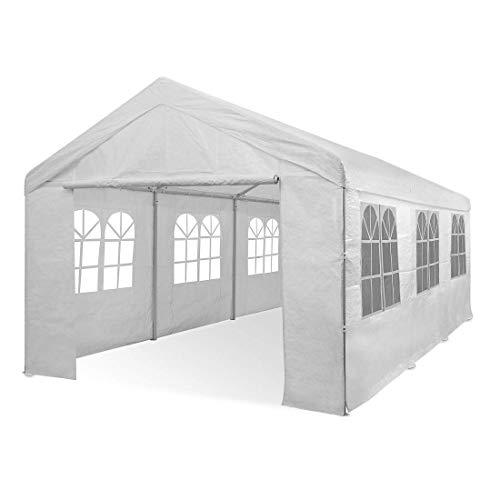 Deuba® Partyzelt 6x3m Pavillon Festzelt Carport Bierzelt Gartenzelt Familienzelt Zelt 12...
