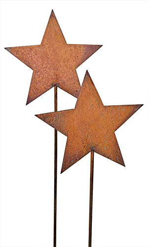 Bornhöft Gartenstecker Sterne aus Edelrost Metall Rost Gartendekoration Weihnachten rostige...