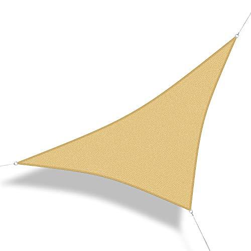 Corasol 160077 Premium Sonnensegel, 5 x 5 x 7 m, 90° Grad Dreieck, Wind- & wasserdurchlässig,...
